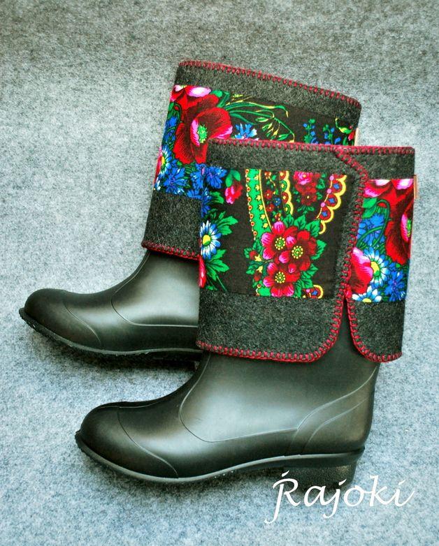 Kalosze Filcowki Rajoki Goralskie Jak Walonki Boots Biker Boot Cowboy Boots