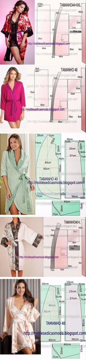 тонкости шитья | Pinterest | Kimonos, Patterns and Sewing patterns