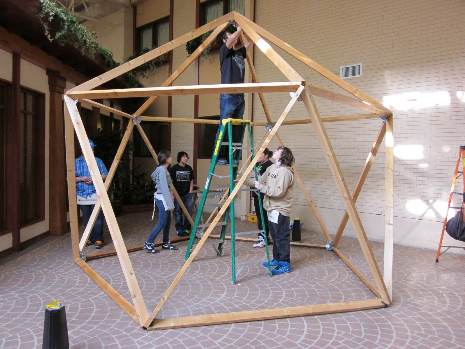 And This Is My Garden: Students construct Geodesic Greenhouse frame ...
