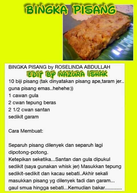 Bingka Pisang Food Beef Meat