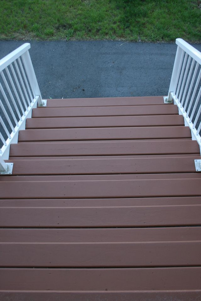 Behr Porch And Patio Paint Quart: Finished Stairs - Behr Deck Over