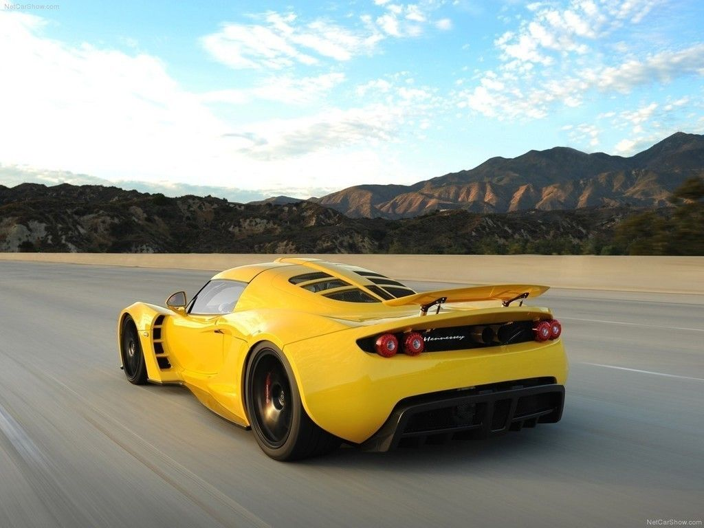 Yellow Sports Car Hennessey Venom Gt Wallpaper Cars Wallpapers