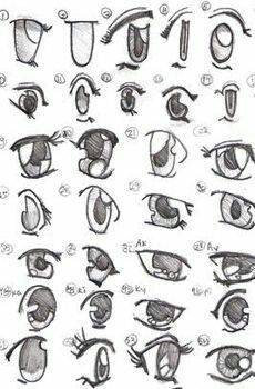 How To Draw Different Anime Eyes Manga Drawing Anime Drawings
