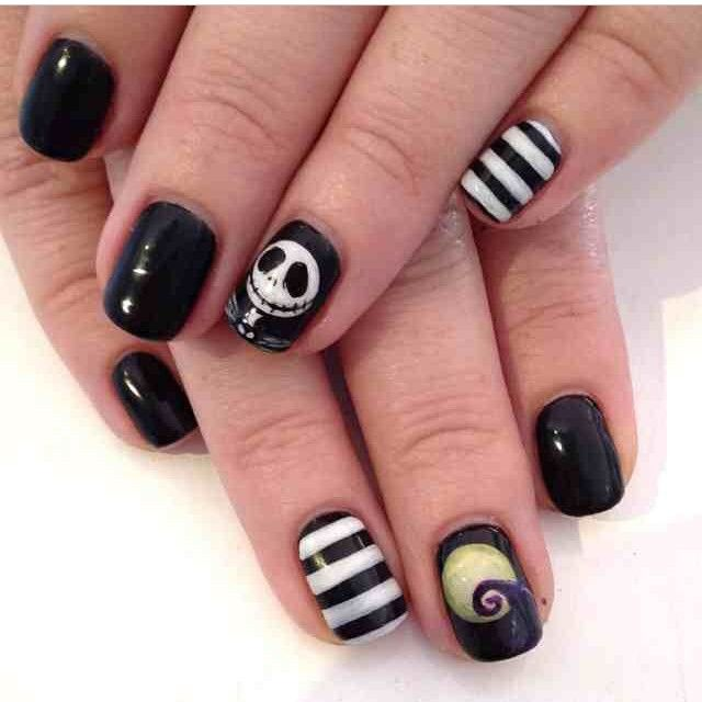 Nightmare Before Christmas Nails Nails Pinterest Makeup
