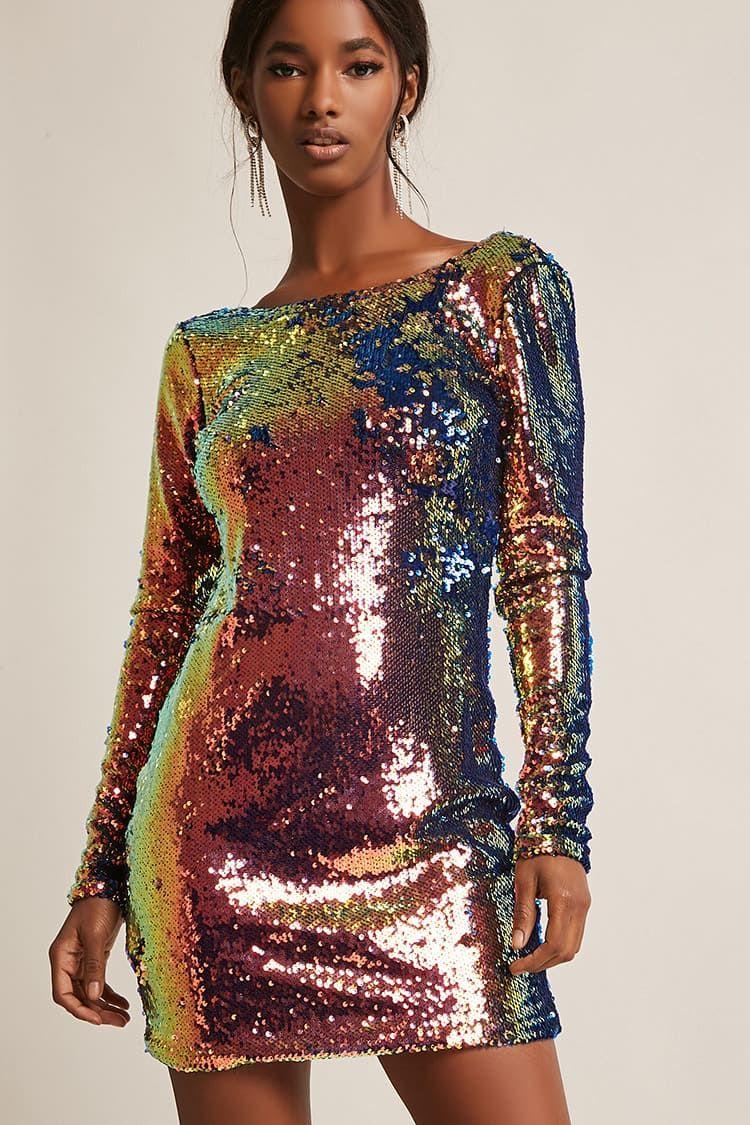 Product namemotel iridescent sequin mini dress categorydress