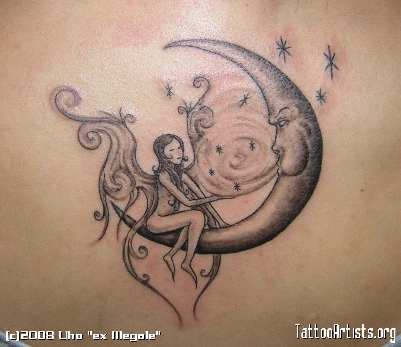 fairy tattoo designs pin fairy moon and star tattoo designs tattoos zimbio on pinterest body. Black Bedroom Furniture Sets. Home Design Ideas
