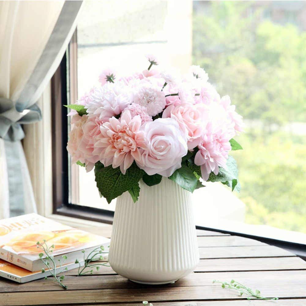 Amazon Com Artificial Flowers Fake Flowers Silk Plastic