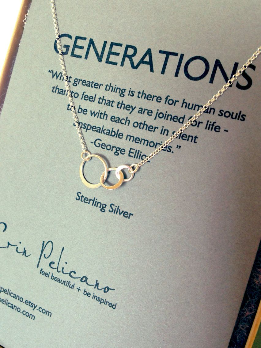 Too Expensive Generations Necklace Family Sisters Mother By Erinpelicano 4500