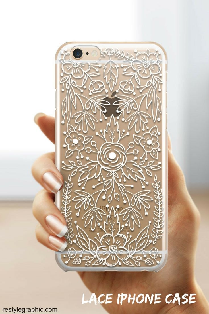 Clear Iphone 6 Case Lace Restylegraphic Lace Phone Case Iphone Transparent Case Diy Phone Case