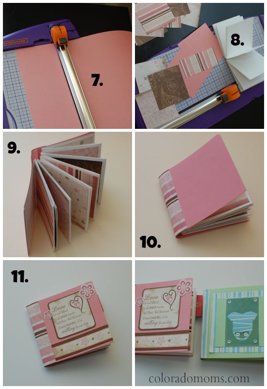 How to Make a Mini Photo Album | ColoradoMoms.com | CRAFTING/ART ...