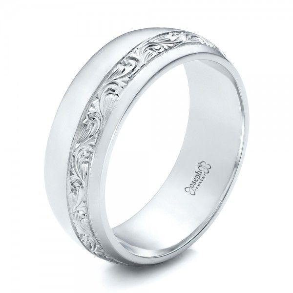 102006 This Stylish Men S Wedding Ring Features An Offset Line Of Custom