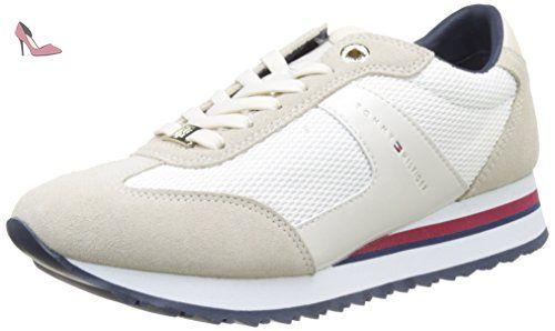 H2285oxton 1a1, Sneaker Basses Homme, Blanc Cassé (Bianco), 41 EUTommy Hilfiger