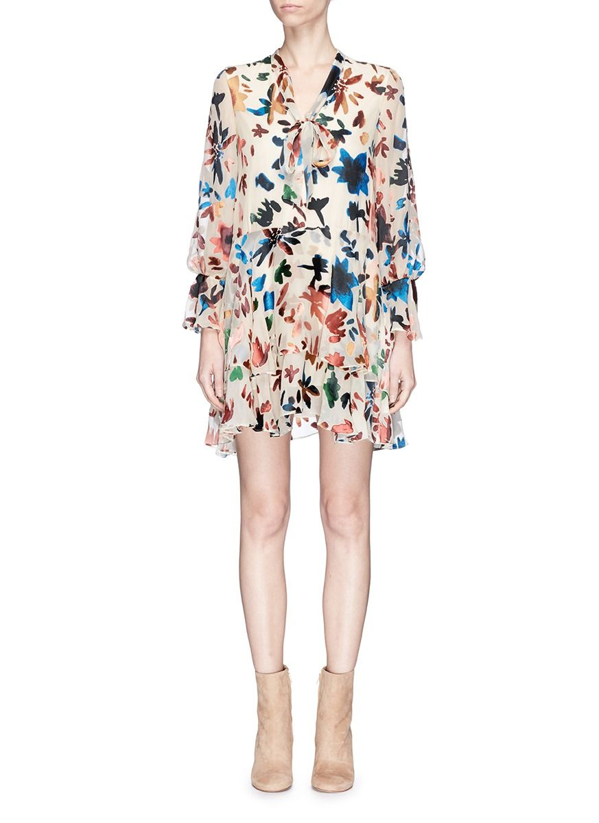 Alice and olivia moore floral burnout appliqu tiered dress alice and olivia moore floral burnout appliqu tiered dress aliceandolivia cloth ombrellifo Images