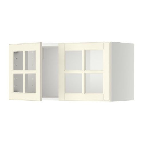 Best Metod Wall Cabinet With 2 Glass Doors White Hittarp Off 400 x 300