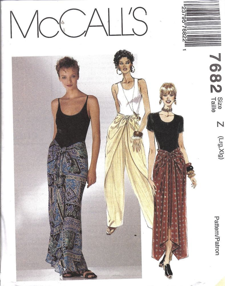 pattern skirt Mccall tie front
