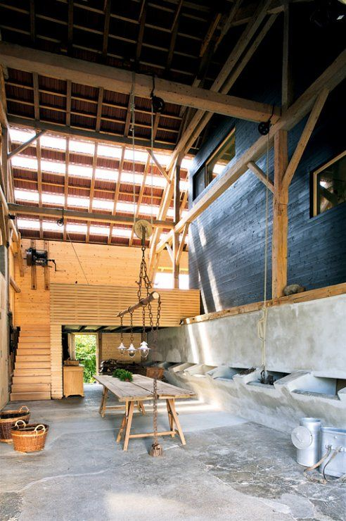 umgebaute scheune stall als werkstatt the barn pinterest scheunen haus umbau und bauernhaus. Black Bedroom Furniture Sets. Home Design Ideas