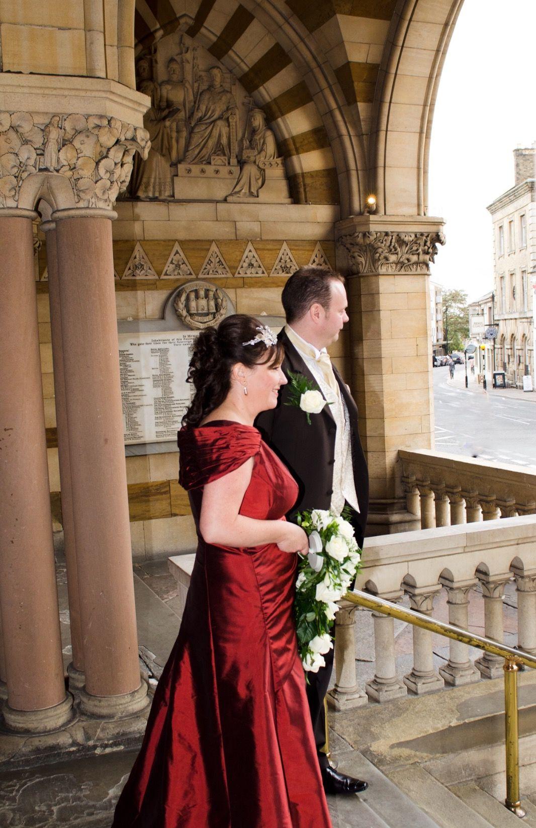 A beautiful bespoke wedding dress designed for an autumn wedding www ...