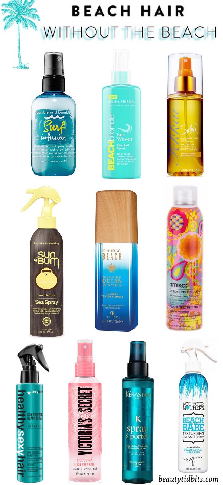 Beachy Waves in a Bottle! The Best Texturizing Sprays For Beach Hair #beautyessentials