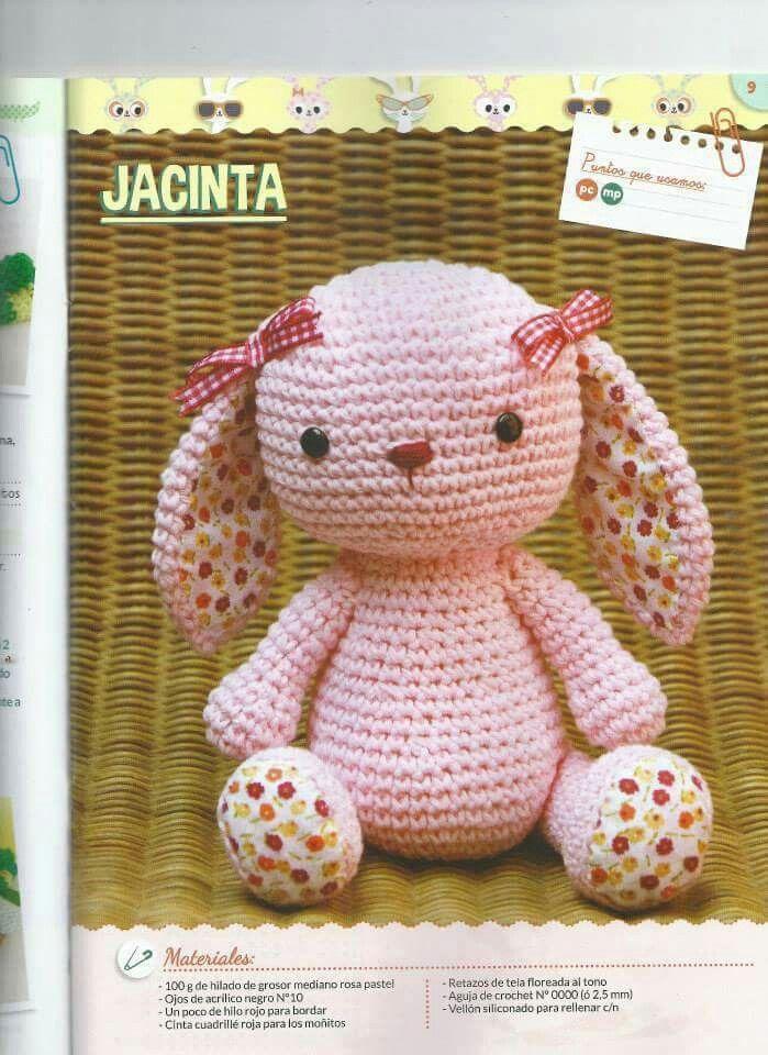 Conejita jacinta | conejos amigurumi | Pinterest | Conejo