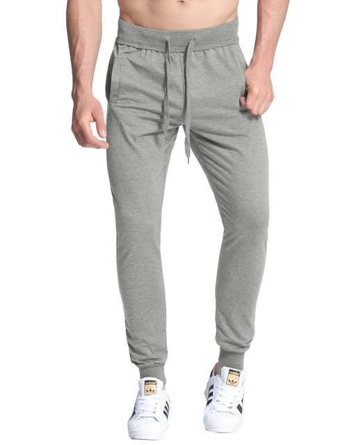 25177601b31 Fall Spring Joggers Mens Sweatpants Slim Fit Track Pants Men Bodybuilding  Elastic Long Tracksuit Trousers pantalon homme