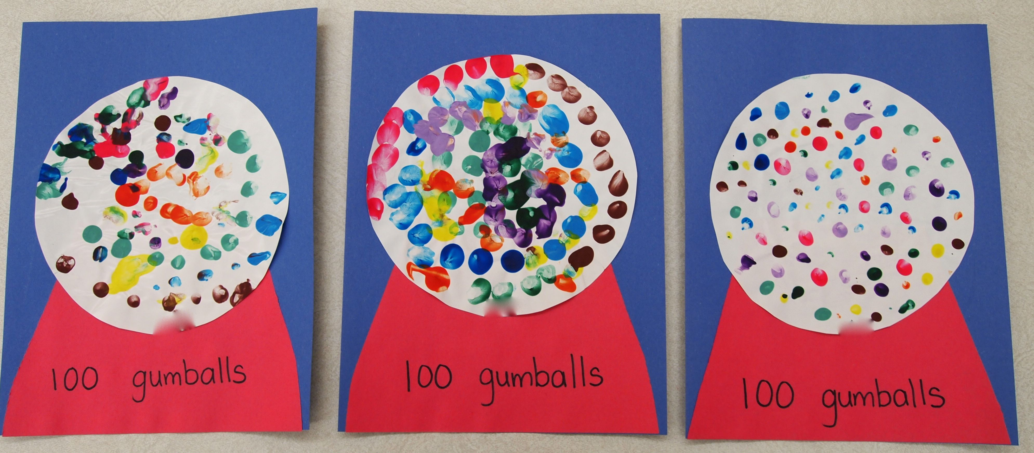 100th Day Gumball Craft Wanna Do This Ybe 5 Colors