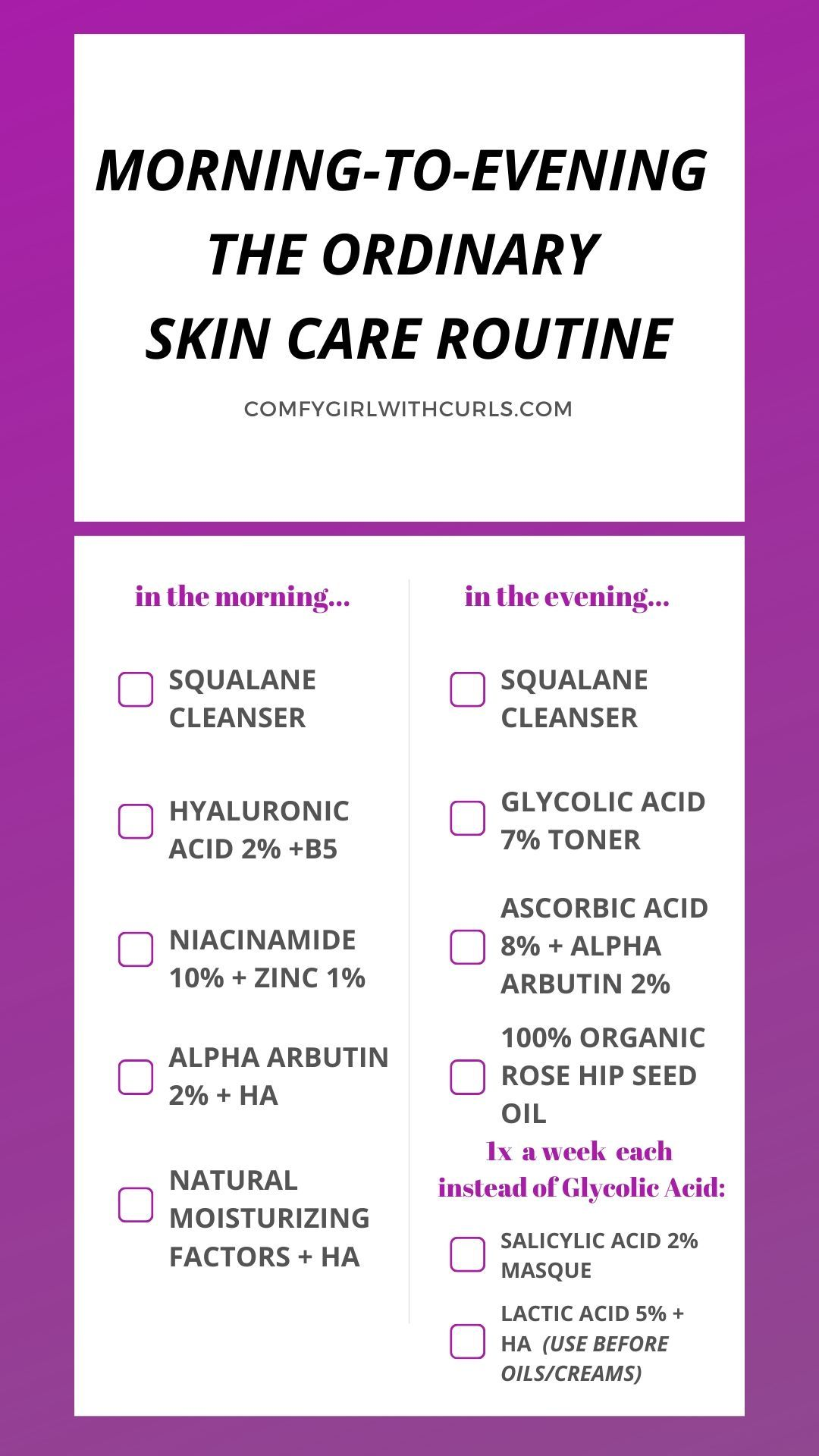 The Ordinary Skincare Regimen For Brown Acne Prone Skin Skin Care Acne Acne Prone Skin Morning Skin Care Routine