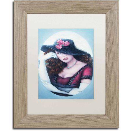 Trademark Fine Art 'Lost Love' Canvas Art by Jenny Newland, White Matte, Birch Frame, Size: 11 x 14, Assorted
