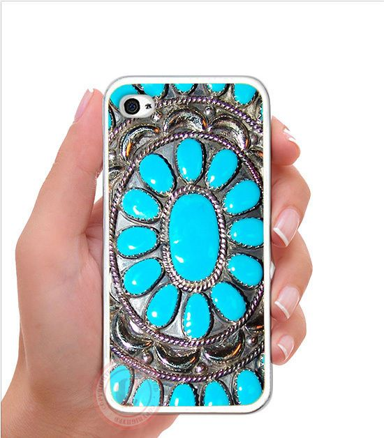 Turquoise Blue Desert Gems Rubber Silicone Case For iPhone 7 6 6S PLUS SE 5S 5C #UnbrandedGeneric