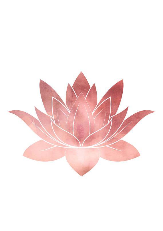 Lotus Flower Yoga Gift For Mom Boho Girl Wall Decor Yoga Print