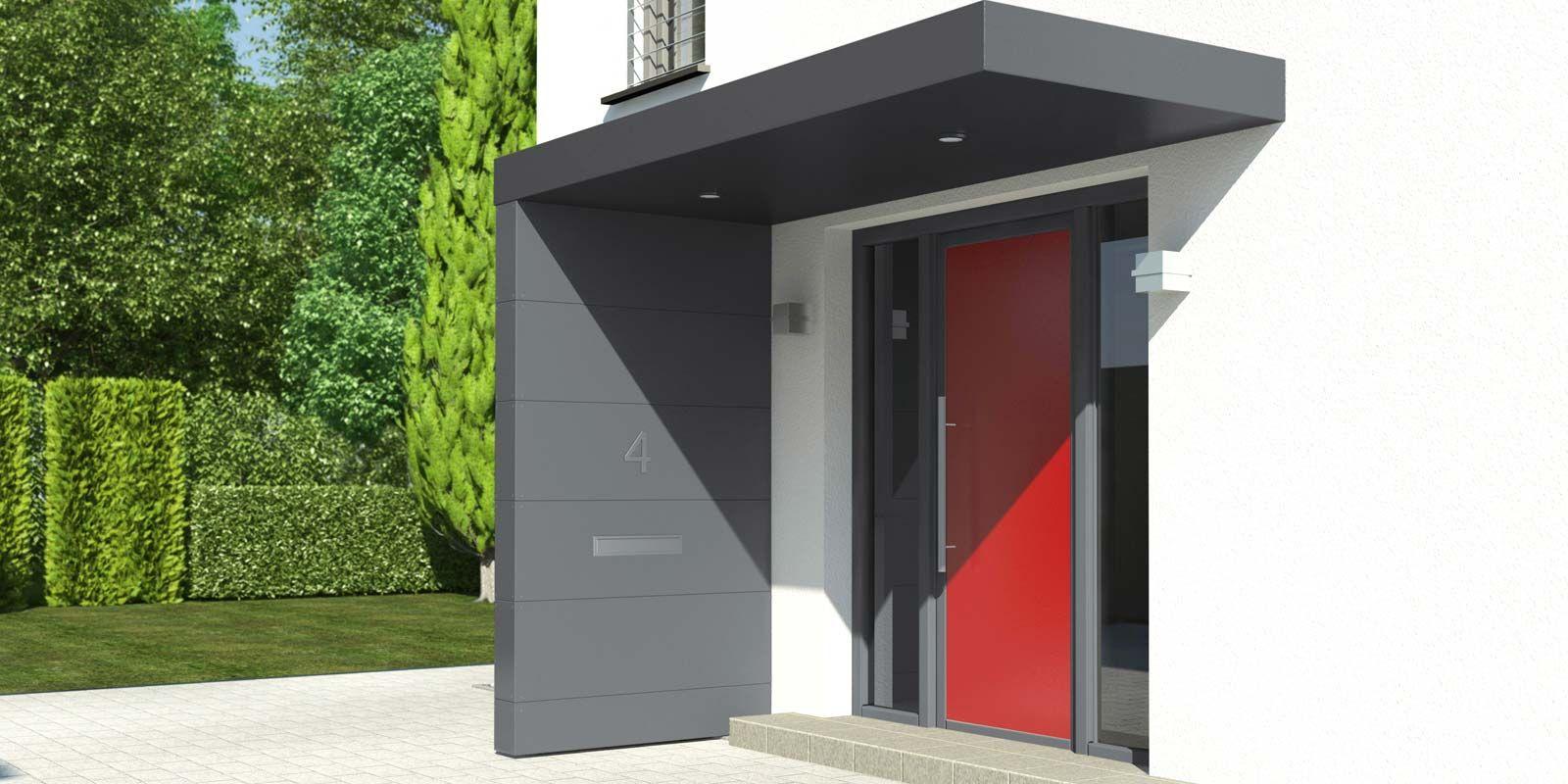 siebau eingangs berdachungen mit verkleidung aus fassadenplatten. Black Bedroom Furniture Sets. Home Design Ideas