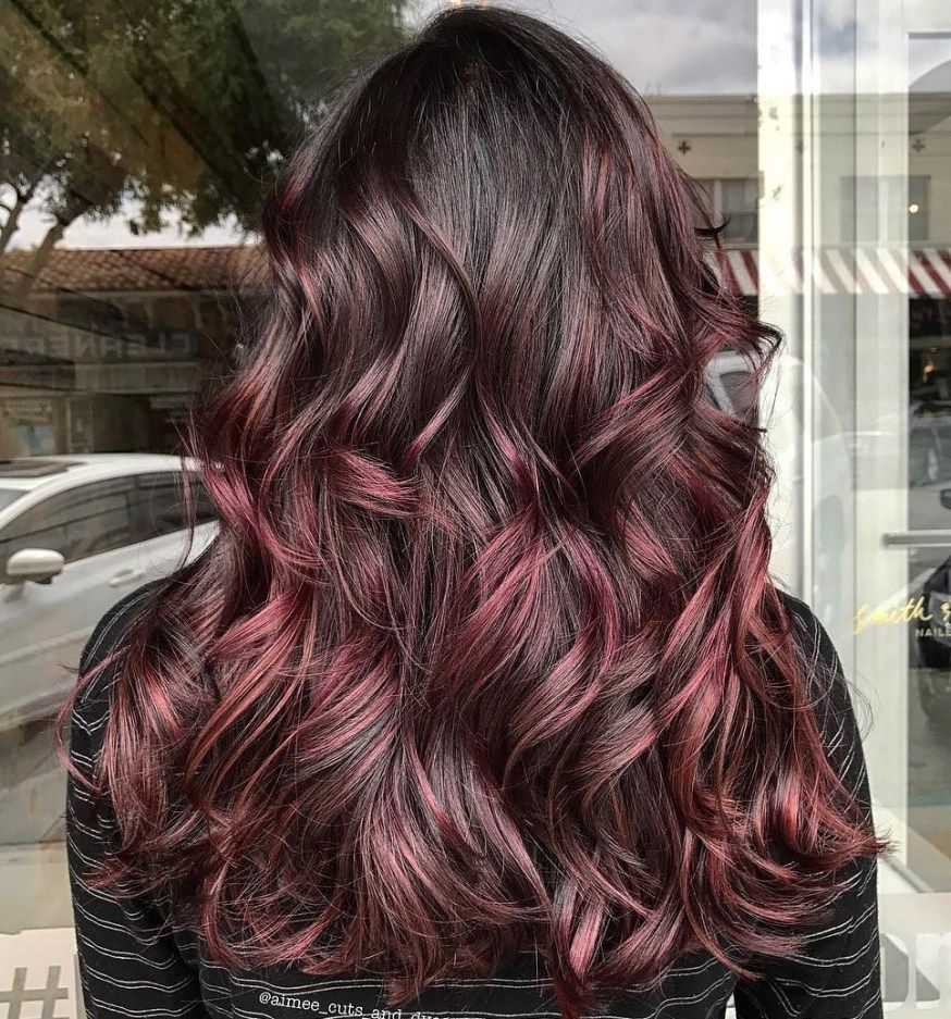 45 Shades Of Burgundy Hair Dark Burgundy Maroon Burgundy With Red Purple And Brown Highlights Burgundy Hair Fall Hair Color For Brunettes Brown Hair With Highlights