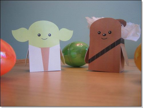 star wars papercraft easter egg boxes  papercraft