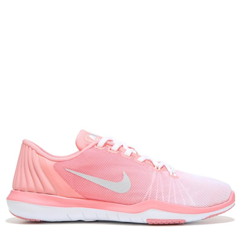 Nike Women's Flex Supreme TR 5 Training Shoes (White/Bright Melon) - 10.0