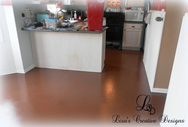 Yes You Can Paint An Old Laminate Floor Painting Laminate Floors