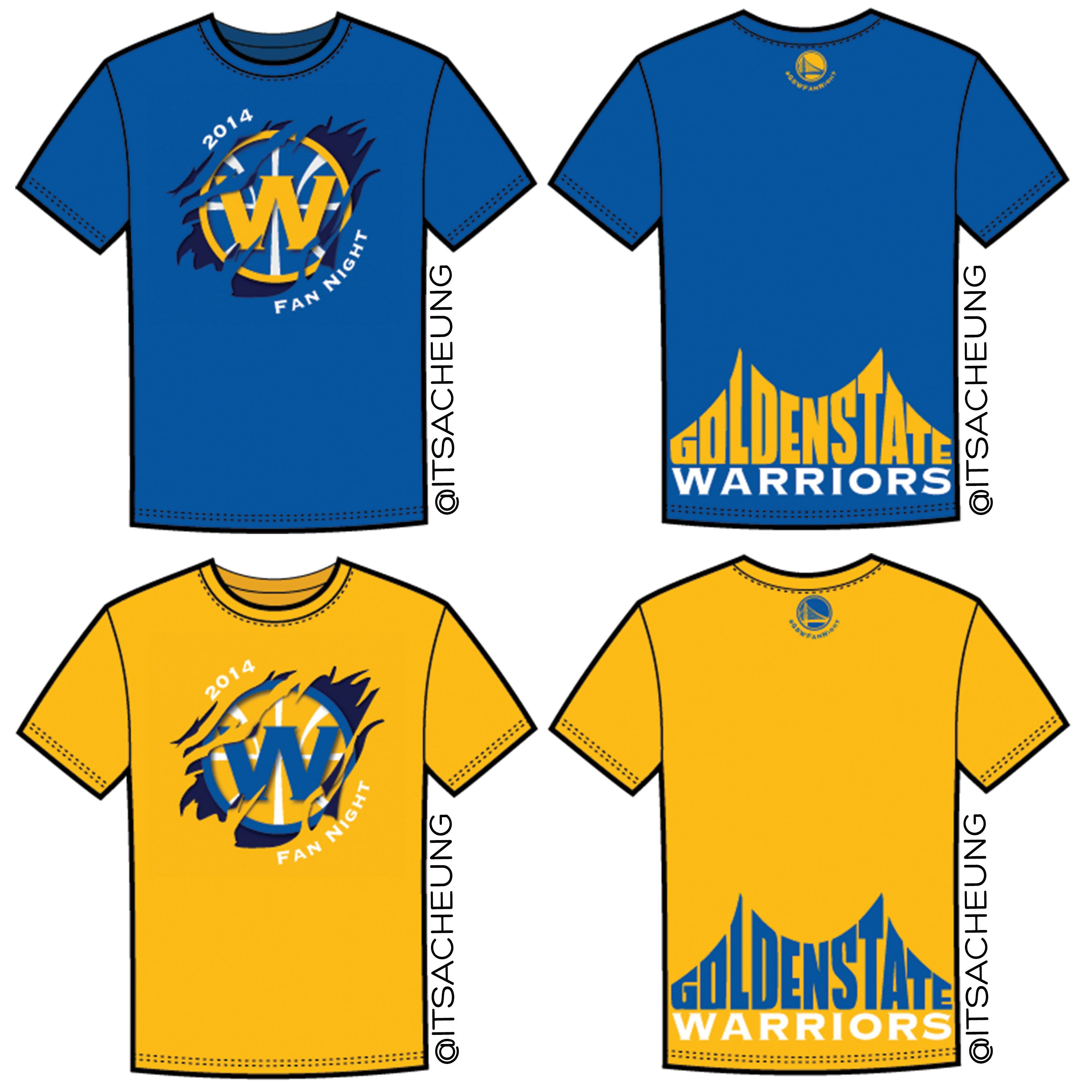 My #GSWFANNIGHT tshirt design made top 5 finalists, but not the winner :( I wish I had the money to create these and sell them!