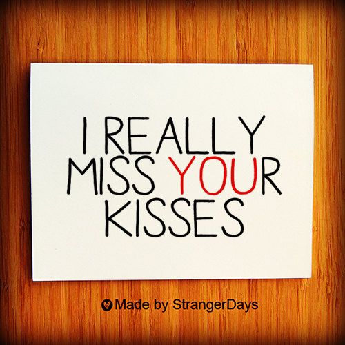 Missing you card i really miss your kisses greeting card i miss i miss you card i really miss your kisses thinking of you long distance relationship card love card missing you valentines day card m4hsunfo