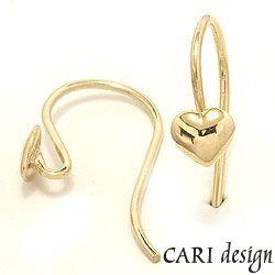 1 sæt CARI ørekroge i forgyldt sterlingsølv
