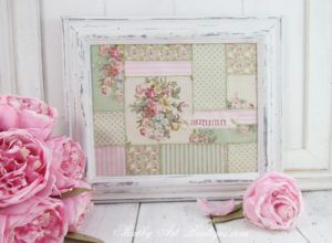 Easy faux patchwork frame for fall