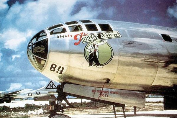 Lady painted on the enola gay