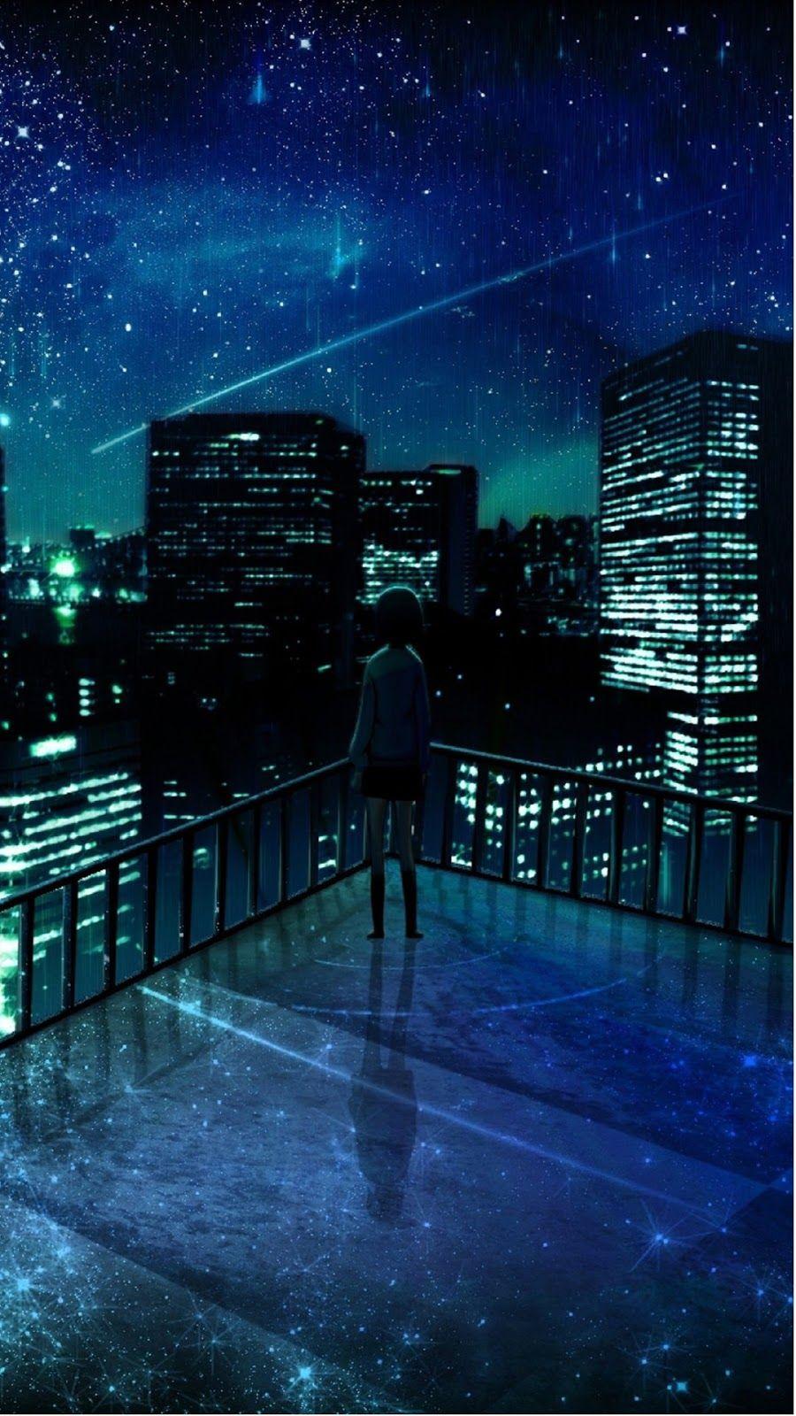 Bintang Gambar Animasi Google Play Store Revenue Download Anime City Anime Scenery Wallpaper Anime Galaxy