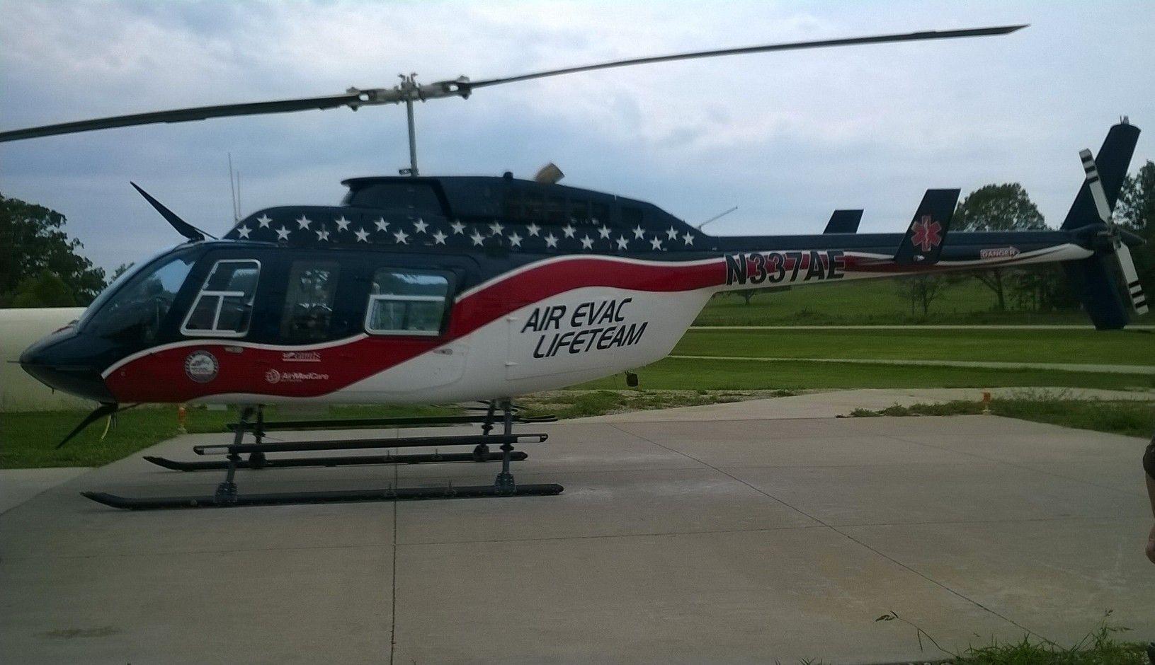 Air Evac Lifeteam at base 8 in Farmington Missouri