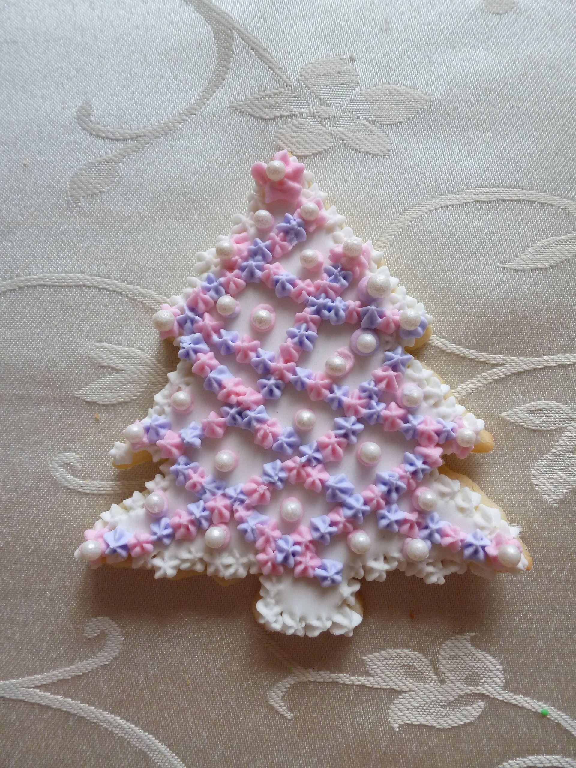 """4"""" Christmas tree sugar cookie"""
