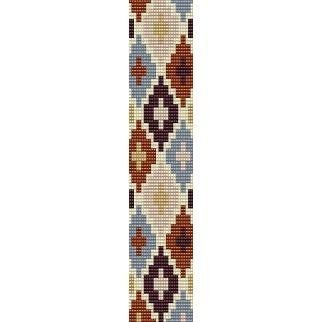 Free Seed Bead Loom Patterns | ... PATTERN - LOOM beading pattern for cuff bracelet (buy any 2 patterns