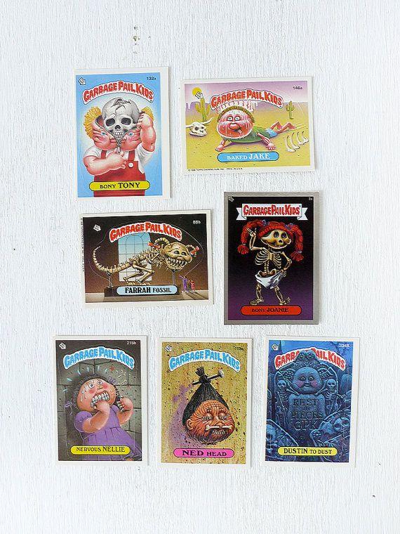 Vintage Garbage Pail Kids Cards Esw S Gpk Bones By Earthseawarrior Garbage Pail Kids Cards Garbage Pail Kids Kids Cards