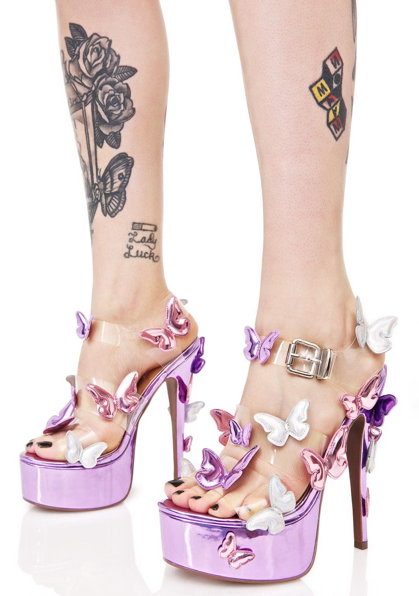 ca2ee9f2a61b Sugar Thrillz Butterfly Baby Platforms yer so gorgeous yew got butterflies  kissin  yer feet