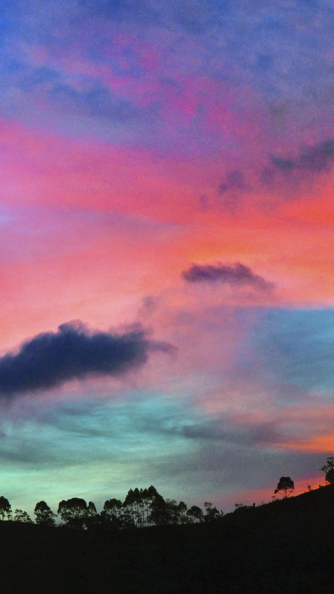 Sky rainbow cloud sunset nature iphone 6 wallpaper for Fond ecran iphone nature