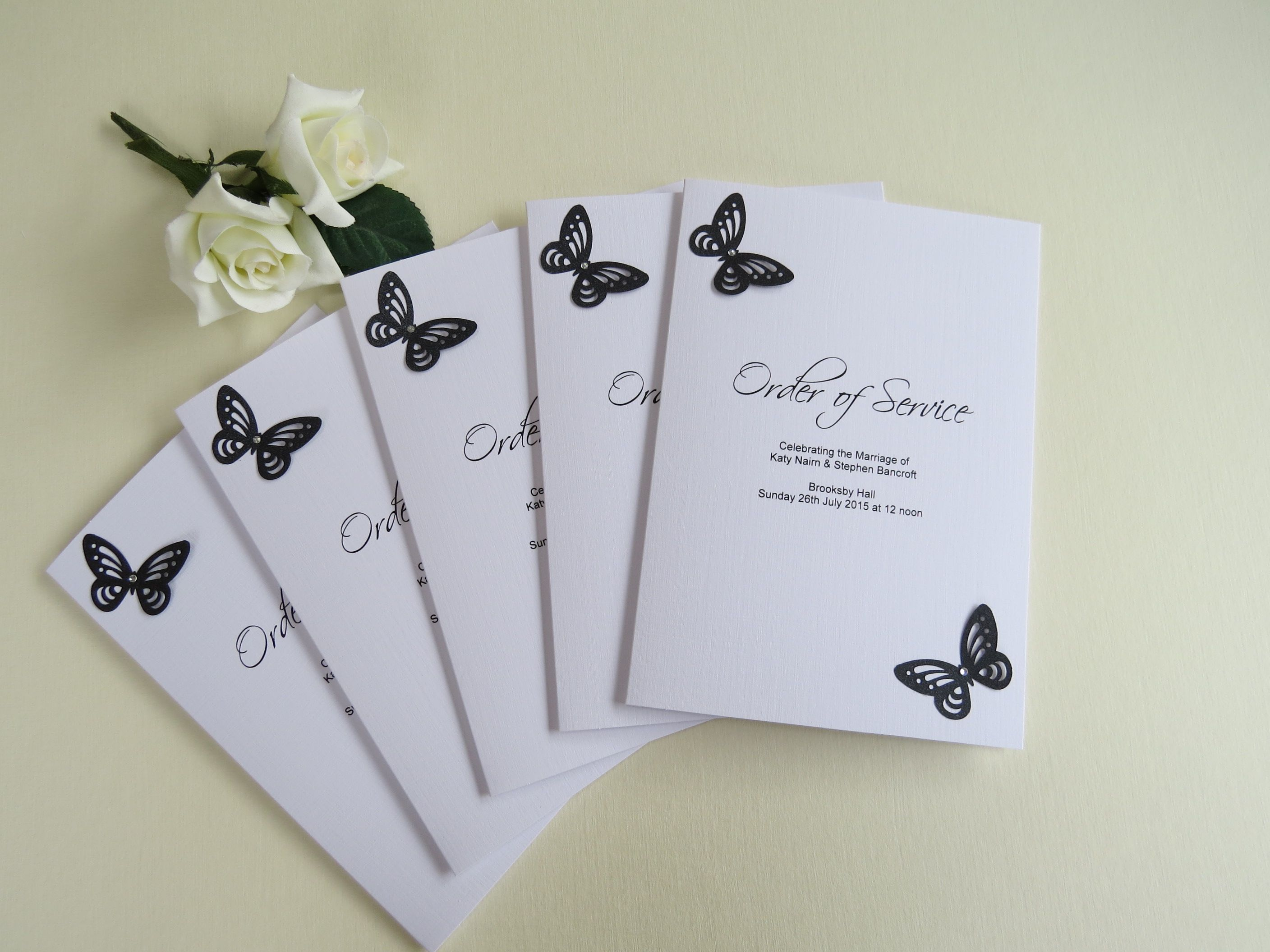 Butterfly order of service | Butterfly Stationery | Pinterest ...
