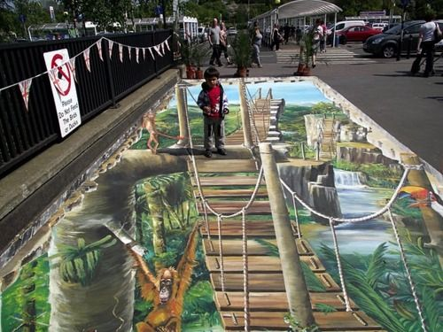 3d Sidewalk Chalk Art How Is This Even Possible Sidewalk Chalk Art 3d Street Art 3d Sidewalk Art