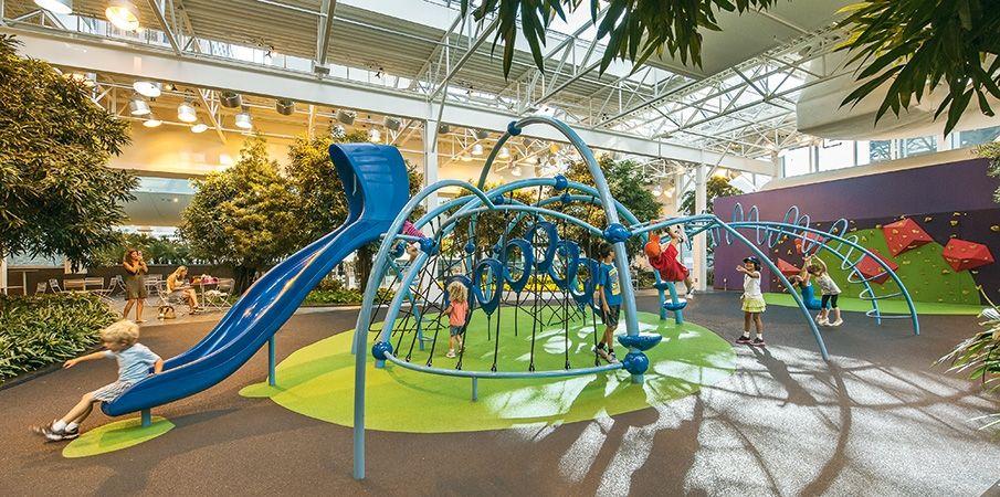 Indoor Playground at Devonian Gardens shopping center in