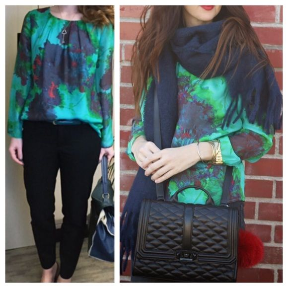 J Crew Floral Top Hothouse print top in beautiful deep jewel tones. Perfect for dressing up or down.   ~CONDITION: Excellent   No Trades ✅ Offer Button Welcome J. Crew Tops Blouses